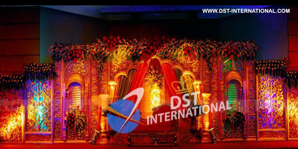 Traditional Wedding Carved Backdrop Dst International