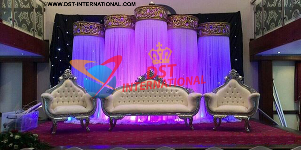 Night reception stage decor dst international for Art decoration international