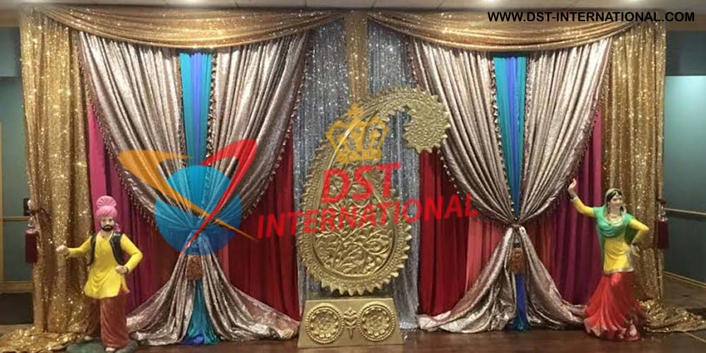 Wedding Stage Embroidered Backdrop Dst International