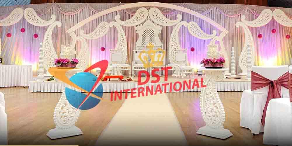 Paisley decor fiber wedding stage dst international for Art decoration international