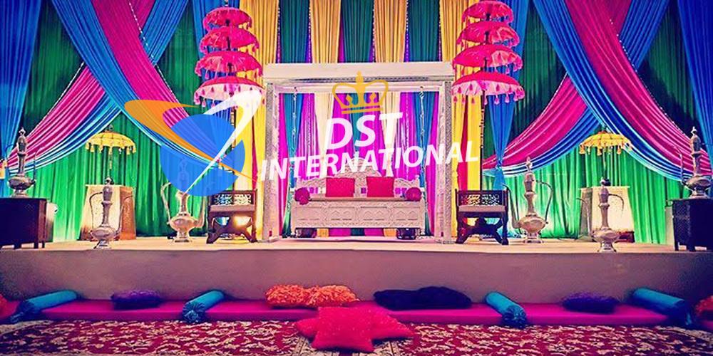 Colorful Mehndi Stage Decoration Dst International
