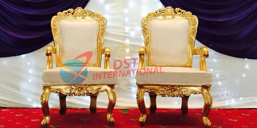 Royal Wedding Chairs Bride Groom