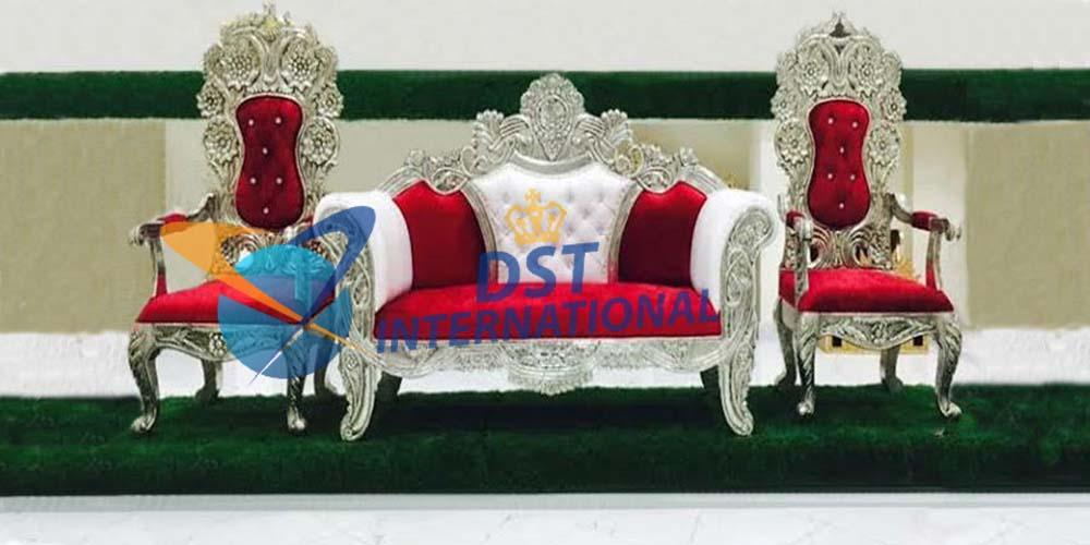 Silver Plating Designer Sofa Set Dst International