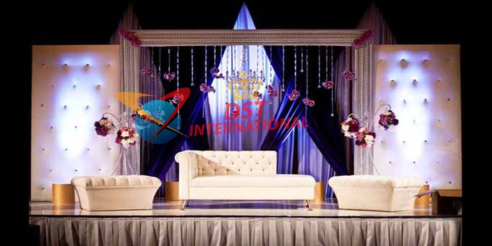 Wedding Leather Crystal Fitted Stage