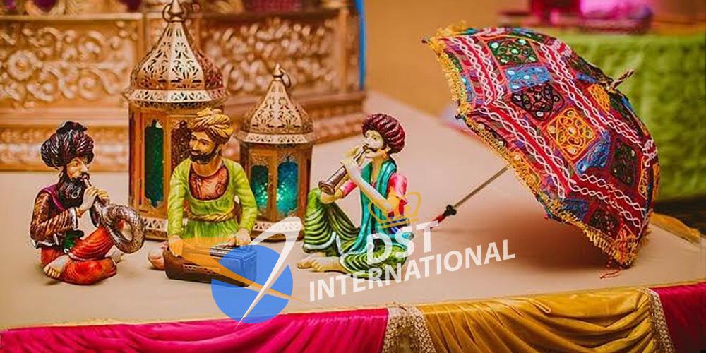 Rajasthani Musicians Statue Decoration Dst International