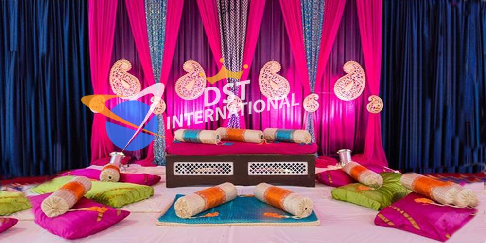 Asian wedding stages dst international for Art decoration international