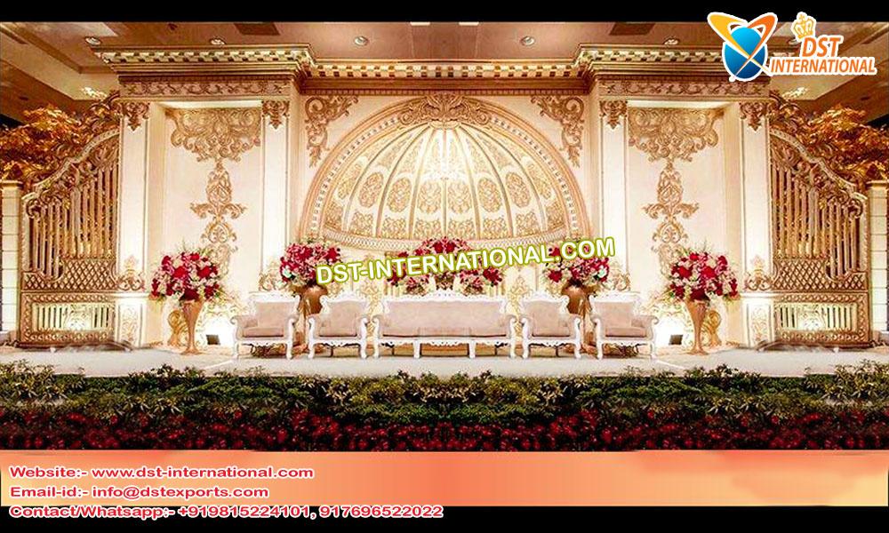 Wedding Reception Stage- Grand Wedding Reception Half-Dome Stage