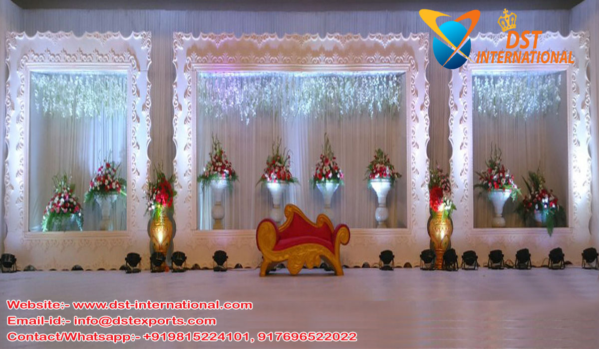 Wedding Stage Victorian Fiber Back-Frames; wedding stage decoration