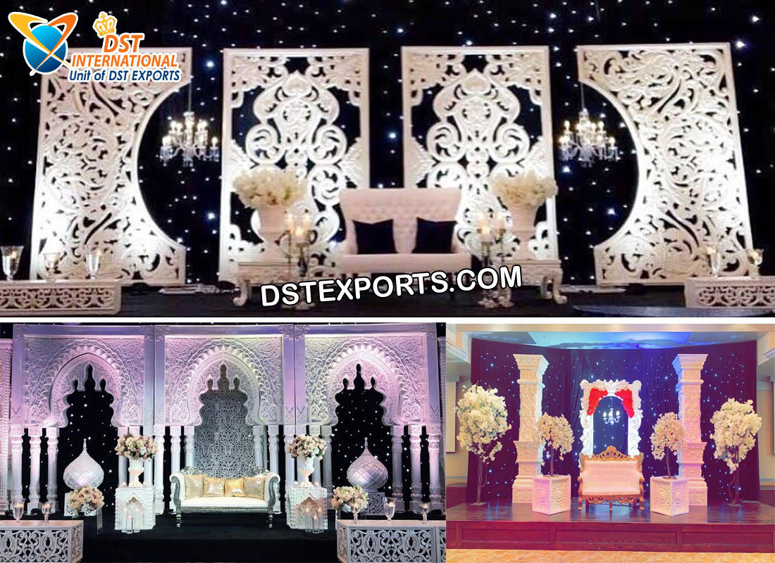 Modern Wedding Contemporary Reception Stage Frames - DST International