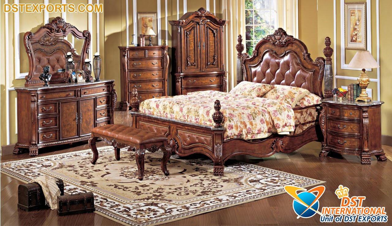 Antique Wooden Carved Furniture Bedroom Sets - DST International