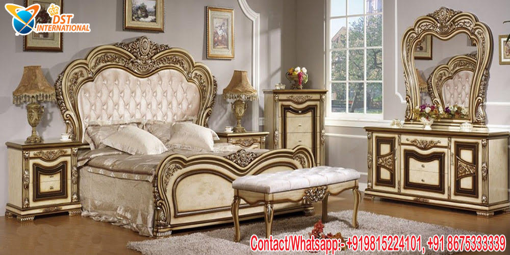 European Style Teak Wood Bedroom Furniture Dst International