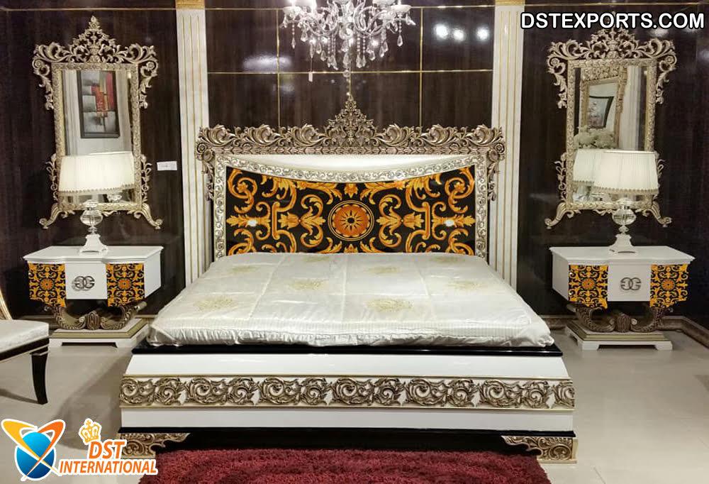 Silver Carved King Size Bedroom Furniture Dst International